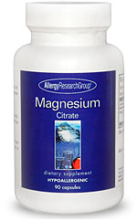 Photo of Allergy Research Group Magnesium Citrate as found at gfchiro.com